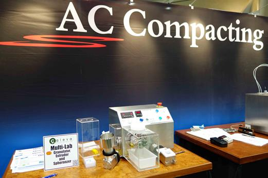 AC Compacting Stand at AAPS San Diego with the Caleva Multi Lab