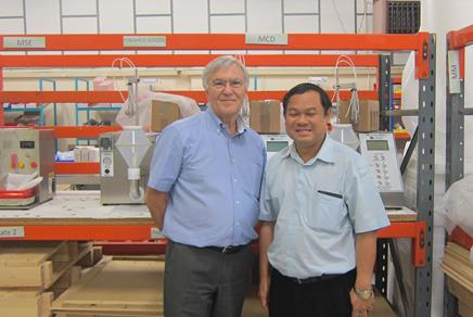 Dr Chaiyavit Chaiyasut and Steve Robinson at the Caleva Site