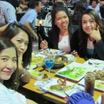 Staff from the Caleva distributor in Thailand Absolute Packaging Ltd celebrating the final night of Pro Pack Asia 2013