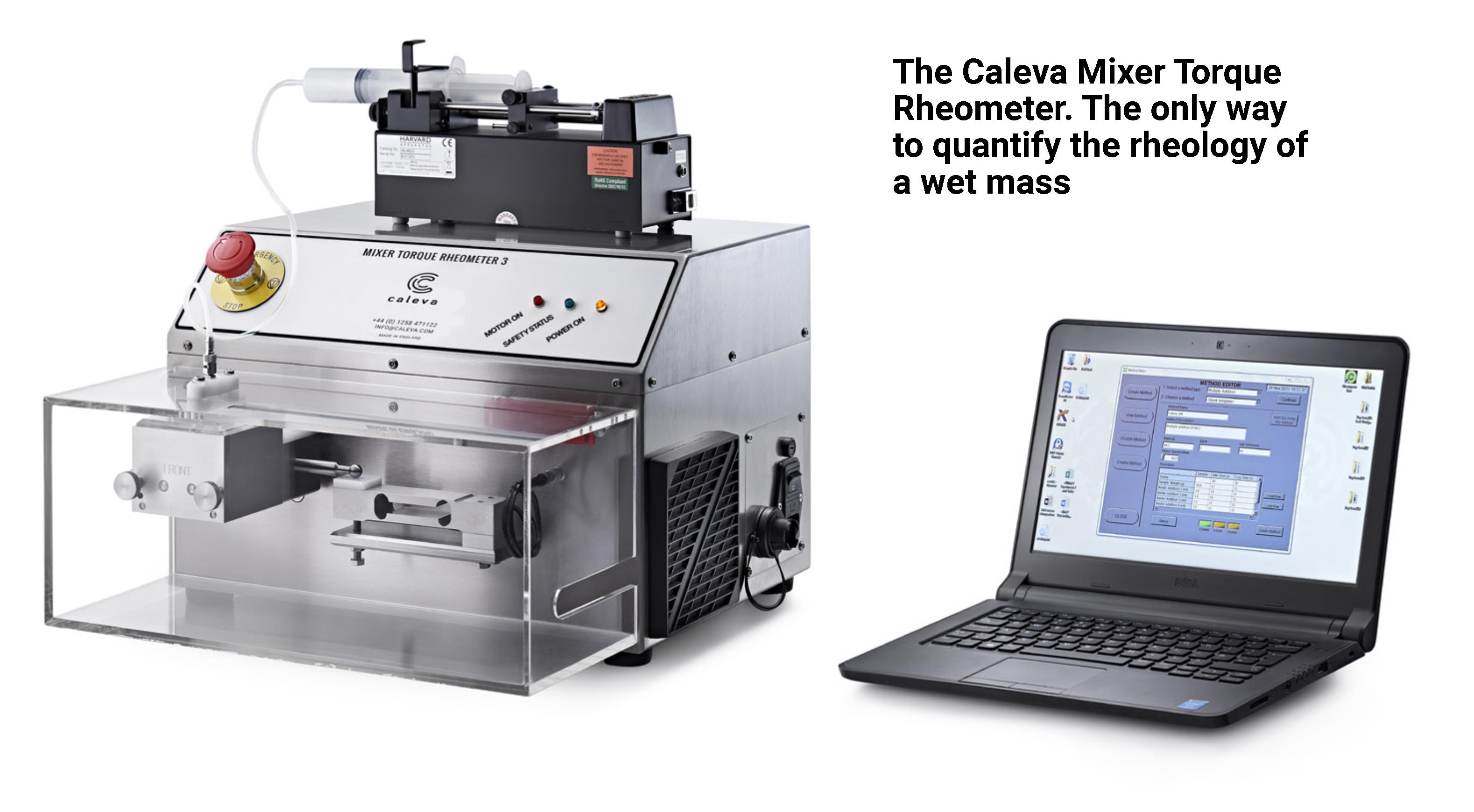 The Caleva Mixer Torque Rheometer - the only way to quantify the rheology of a wet mass