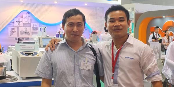 Nguyen Hung Distributor of Caleva equipment in Vietnam at the Mettler Toledo stand at Propack Vietnam