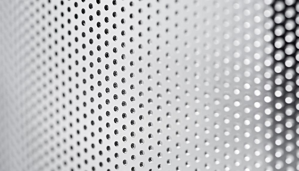 Caleva 1.5kg Multi Bowl Spheronization Kit Caleva extruder screen showing individually drilled holes
