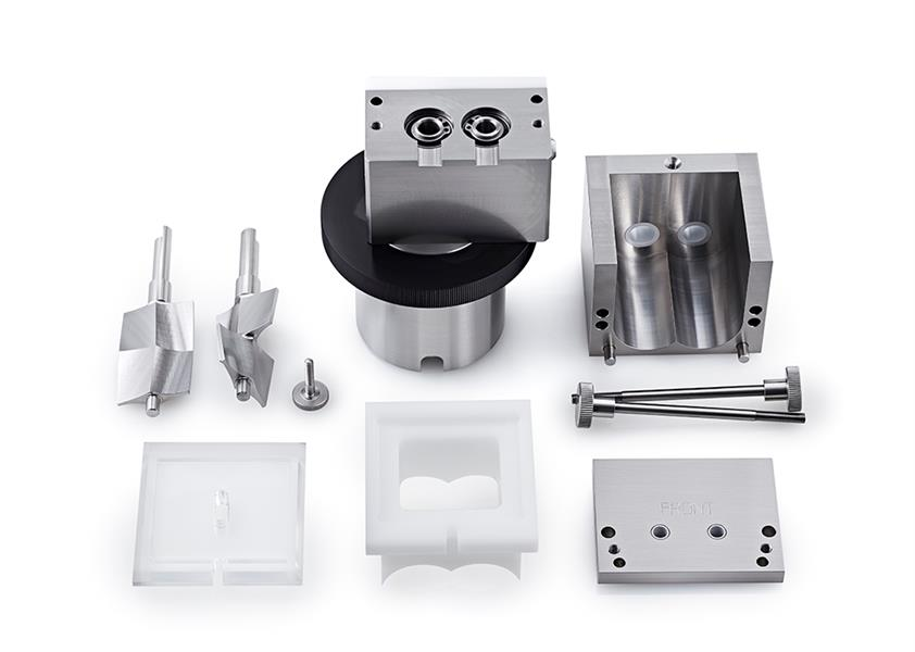 Caleva Multi Lab for teaching Mixer Attachment components shown disassembled