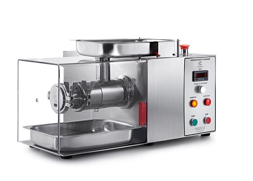 Caleva Variable Density Kit with radial extrusion attachment and safety cover in place