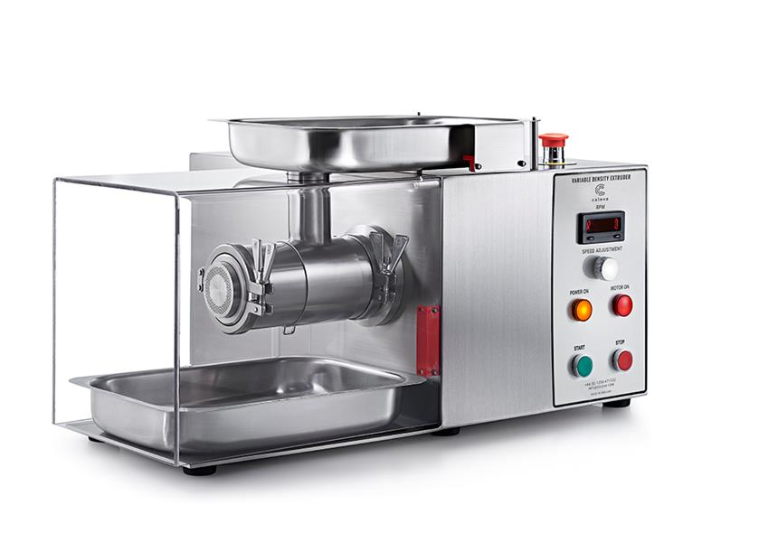 Caleva Variable Density Kit with axial extrusion attachment and safety cover in place