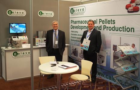 Dr Steve Robinson and David Ryan from Caleva at Making Pharma 2014