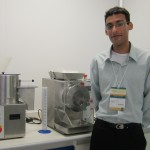 Mr Edwardo Jose Barbosa with Caleva Extruder and Spheronizer